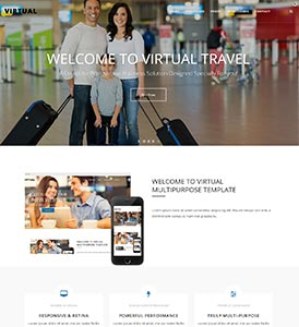 Home Pages Virtual Dnn/Dotnetnuke theme / skin