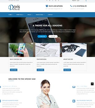 Home Pages Doris Dnn/Dotnetnuke theme / skin
