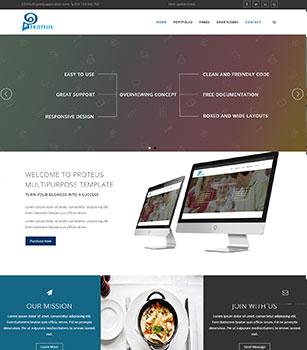 Home Pages Proteus Dnn/Dotnetnuke theme / skin