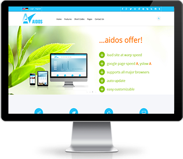 Wide & boxed Layout Aidos Dnn/Dotnetnuke theme / skin