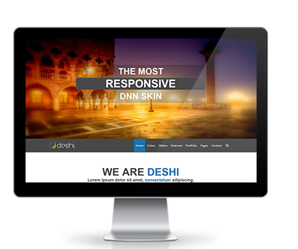 Wide & boxed Layout Deshi Dnn/Dotnetnuke theme / skin
