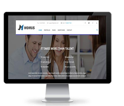 Wide & boxed Layout Momus Dnn/Dotnetnuke theme / skin