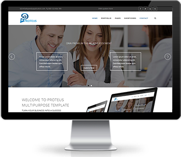 Wide & boxed Layout Proteus Dnn/Dotnetnuke theme / skin