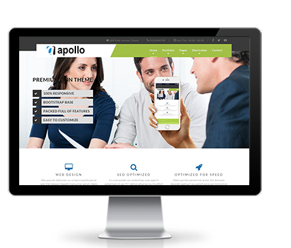 Wide & boxed Layout Apollo Dnn/Dotnetnuke theme / skin