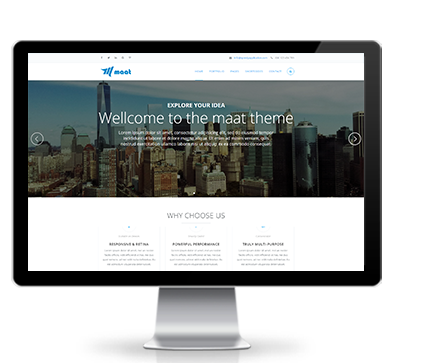 Wide & boxed Layout Maat Dnn/Dotnetnuke theme / skin