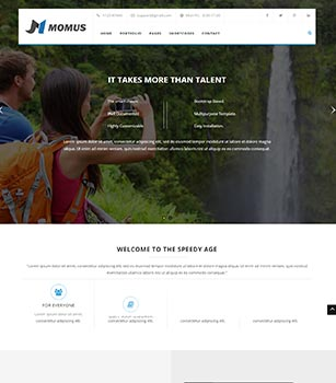 Home Pages Momus Dnn/Dotnetnuke theme / skin