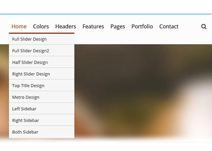 DropDown Menu Mirror Dnn/Dotnetnuke theme / skin