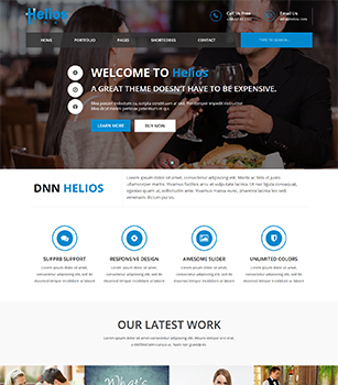 Home Pages Helios Dnn/Dotnetnuke theme / skin