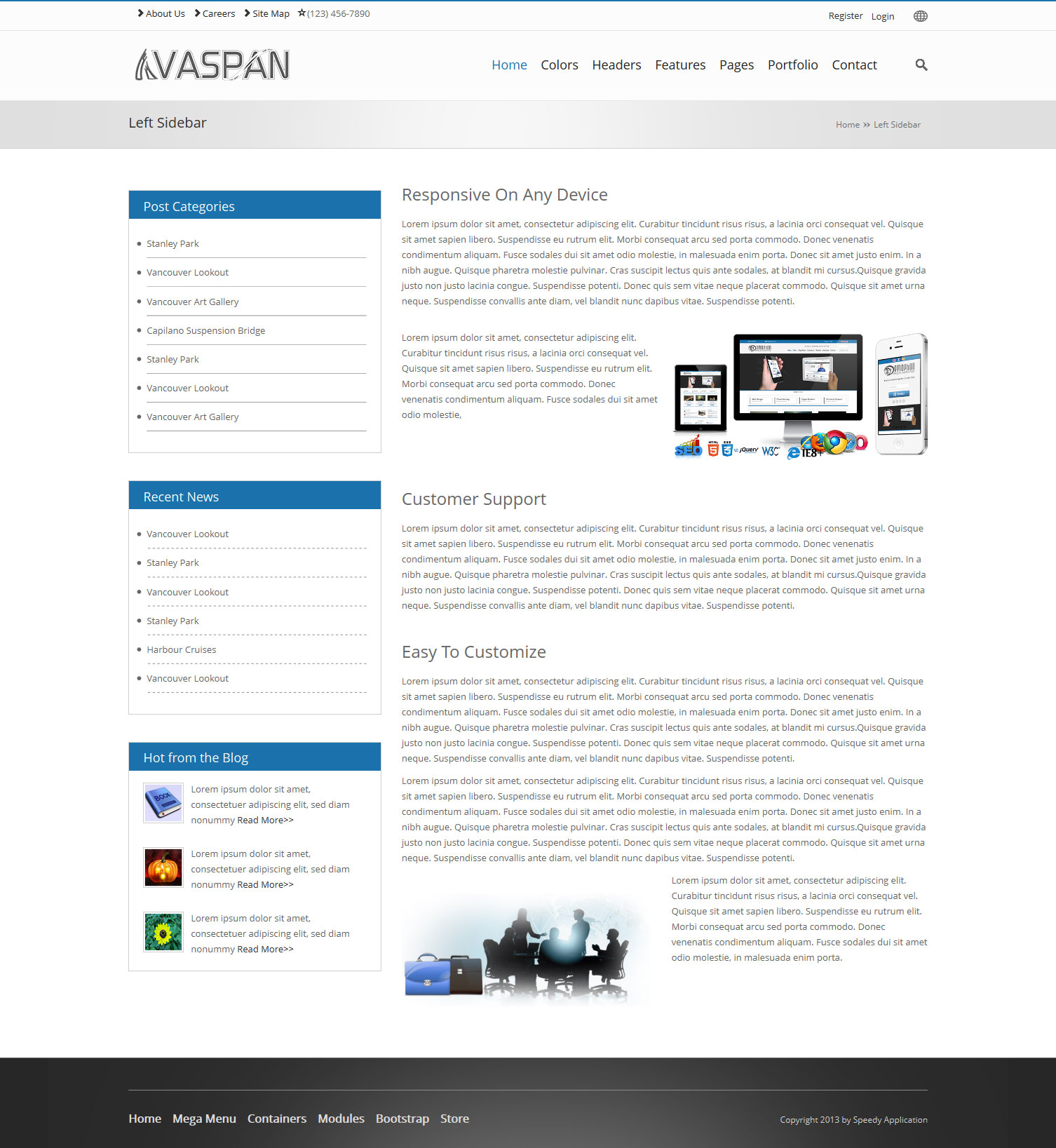 Home Pages Vaspan Dnn/Dotnetnuke theme / skin