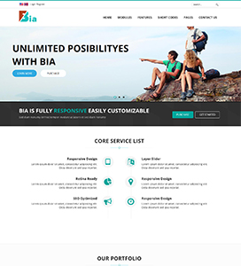 Home Pages Bia Dnn/Dotnetnuke theme / skin