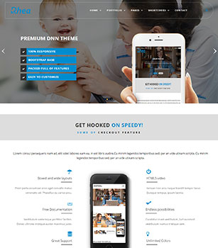 Home Pages Rhea Dnn/Dotnetnuke theme / skin