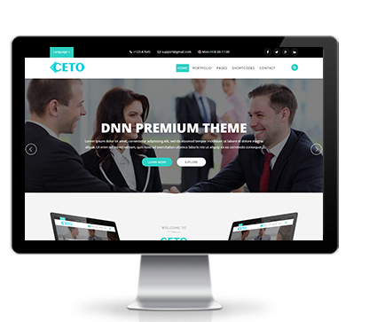 Wide & boxed Layout Ceto Dnn/Dotnetnuke theme / skin