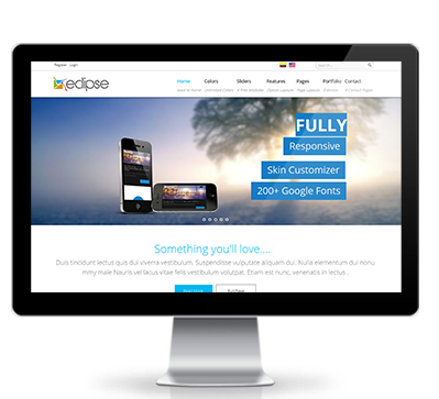 Wide & boxed Layout Eclipse Dnn/Dotnetnuke theme / skin