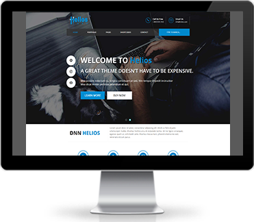 Wide & boxed Layout Helios Dnn/Dotnetnuke theme / skin
