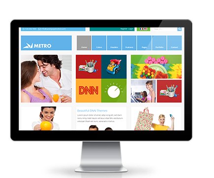 Wide & boxed Layout Metro Dnn/Dotnetnuke theme / skin