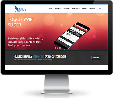 Wide & boxed Layout Notus Dnn/Dotnetnuke theme / skin