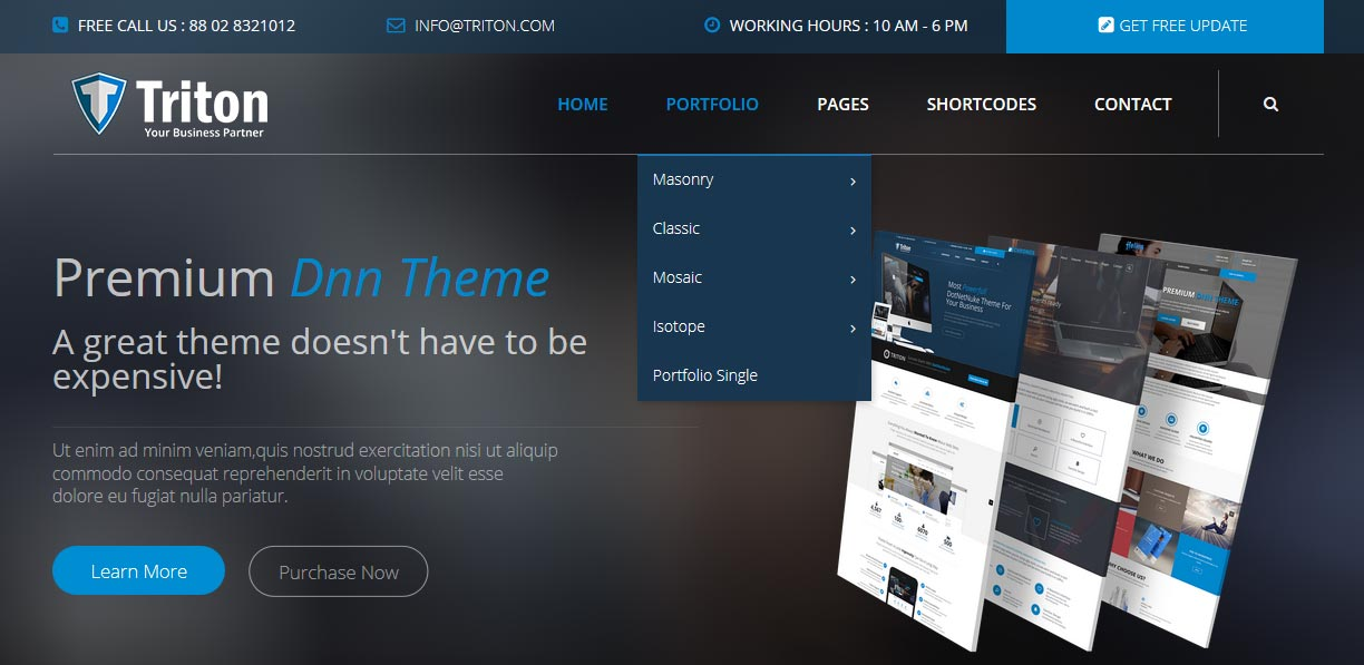 DropDown Menu Triton Dnn/Dotnetnuke theme / skin