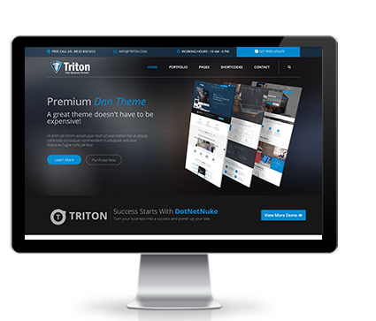 Wide & boxed Layout Triton Dnn/Dotnetnuke theme / skin